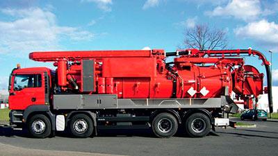 Автомобильная установка для прочистки канализационных систем