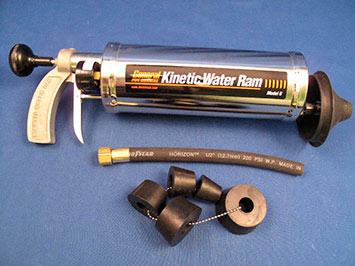 Пневматический пистолет для прочистки канализации Kinetic Water Ram с набором насадок