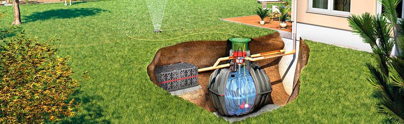 Решение для загороднего дома. Септик и система полива.